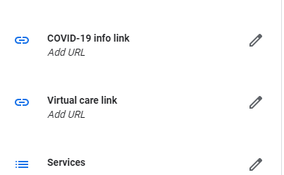 where to update your GMB links